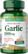 Nature's Bounty Odorless Garlic 2000 mg 200 Tablets