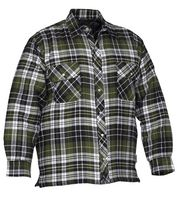 Forcefield Quilted Flannel Shirt L