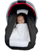 Arctic Sneak-A-Peek - Infant carseat cover Flat Black