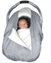 Arctic Sneak-A-Peek - Infant carseat cover Grey