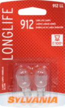 SYLVANIA Long Life 912 LL Automotive Miniature Bulb, 2 Pack