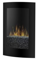Convex Wall Mount Fireplace, black