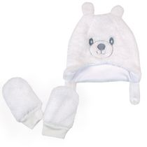 George Unisex Baby Bear Hat with Mitts