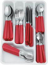 Mainstays 48 piece Flatware set with Organizer - Red