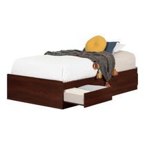 South Shore Summer Breeze Collection Twin Mates Royal Cherry Bed with 3 Drawers