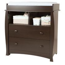 South Shore Beehive Espresso Changing Table with Removable Changing Station