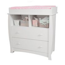 South Shore Beehive Pure White Changing Table with Removable Changing Station