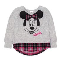 Disney Minnie Toddler Girls' Long Sleeve Pullover 3T