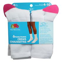 Chaussettes de marin pour dames de Fruit of the Loom, 6 paires