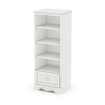 South Shore Savannah Shelving Unit with Drawer White