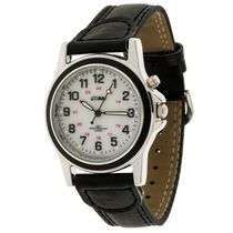 Globlu Mens Black Strap Easy Read Analog Watch
