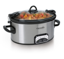 Crock-Pot 6 Qt. Cook and Carry Programmable Slow Cooker, Stainless Steel - SCCPVL605S-033