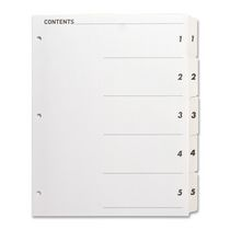 Sparco Quick Index Table Of Contents Divider