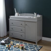 South Shore Cotton Candy Collection Changing Table Grey
