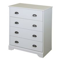 South Shore Fundy Tide 4-Drawer Chest White