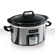 Crock-Pot Countdown Programmable Slow Cooker, Polished Stainless