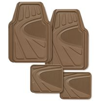 Kraco 4 Piece Premium Heavy Duty Tan Rubber Mat