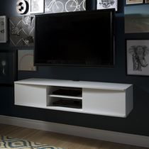 South Shore Agora Wide Wall Mounted Media Console, 56 inch White
