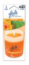 Glade Candle 3pk Hawaiian Breeze