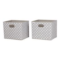 South Shore Storit 2-Pack Patterned Fabric Storage Baskets