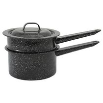 Granite Ware 1.5 Quart Double Boiler - Black
