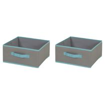 South Shore Fabric Storage Bin, 2 Pack - Medium Size