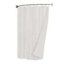 Mainstays Waterproof Fabric Shower Liner  White