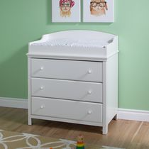 South Shore Cotton Candy Changing Table with Drawers White