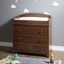 South Shore Cotton Candy Changing Table with Drawers Brown