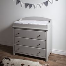 South Shore Cotton Candy Changing Table with Drawers Grey