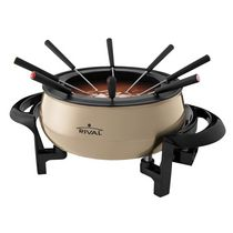 Rival 3-Quart Electric Fondue Pot Champagne