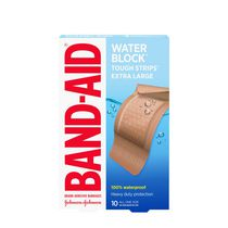BAND-AID® TOUGH-STRIPS® Extra Large Water Proof Adhesive Bandages
