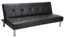 MAINSTAYS Faux Leather Sofa Bed - Black