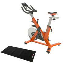 Ironman Triathlon X-Class 510 Smart Technology Indoor Training Cycle with Bluetooth, BONUS My Cloud Fitness Chest Belt and added BONUS Equipment Mat