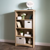 South Shore Artwork 4- Shelf Bookcase Rustic Oak