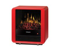 Mini Cube Electric Stove, red