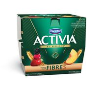 Activia Peach/Red Fruits and Cereals Probiotic Yogurt