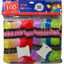 Friends Forever Embroidery Floss Jumbo Fluorescent Pack