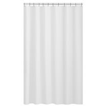 Mainstays Textured Microfiber Fabric Shower Curtain Liner White