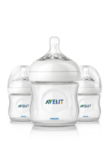 Philips AVENT SCF690/37 4 Ounce BPA Free Natural Polypropylene Bottles, 3-Pack