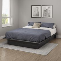 South Shore SoHo 54-inches Platform Bed Gray Oak