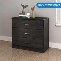 South Shore Smart Basics 3-Drawer Chest Gray Oak