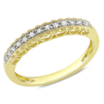 Miabella Bague de mode avec accents de diamants en or jaune 10 K 5