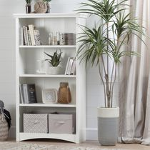 South Shore Artwork 4-Shelf Bookcase Pure White