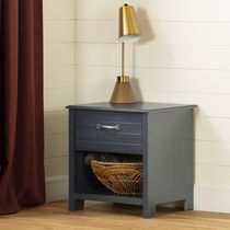South Shore Ulysses Blueberry1-Drawer Nightstand