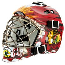 Franklin Sports LNH Masque de gardien mini de la série d'équipe Chicago Blackhawks
