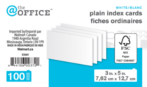 Plain index cards