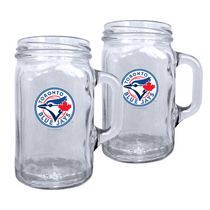 Toronto Blue Jays 16.5oz Mason Mug Set