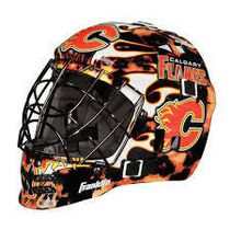 Franklin Sports NHL Team Series Calgary Flames Mini Goalie Mask