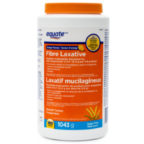 Equate FIBRE LAXATIVE,Orange Flavour, Sugar Free, Psyllium Hydrophilic Mucilloid for Oral Suspension U.S.P. (3.4 g per 5.8 g dose), 180 doses